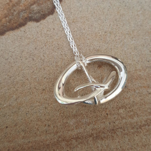 Silver Pendant Necklace - Triune by Techniflow