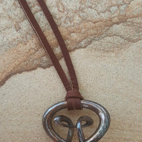Orbital - Bronze Music Necklace by Techniflow